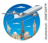 air travel concept | Shutterstock . vector #1008720979