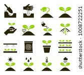plant icons. vector... | Shutterstock .eps vector #1008722251