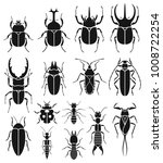 insect icons set. vector... | Shutterstock .eps vector #1008722254