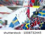nordic ski race  professional... | Shutterstock . vector #1008732445