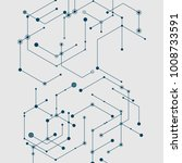 abstract vector connection... | Shutterstock .eps vector #1008733591