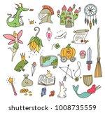 cute fantasy doodle element | Shutterstock .eps vector #1008735559