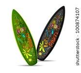illustration of colorful doodle ... | Shutterstock .eps vector #100874107