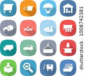 flat vector icon set   delivery ... | Shutterstock .eps vector #1008742381