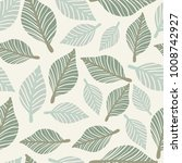 seamless leaf pattern. | Shutterstock .eps vector #1008742927