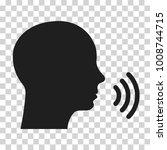 voice command icon. vector...   Shutterstock .eps vector #1008744715