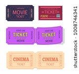set of movie cinema tickets... | Shutterstock .eps vector #1008746341