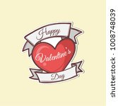 valentines day sticker | Shutterstock .eps vector #1008748039