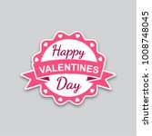 valentines day sticker | Shutterstock .eps vector #1008748045