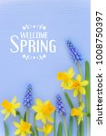 beautiful spring banner with...
