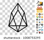 eos currency pictograph with...