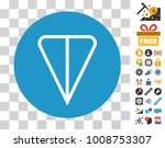 ton currency pictograph with...