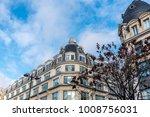 paris's buildings with a blue... | Shutterstock . vector #1008756031
