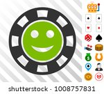 glad casino chip pictograph... | Shutterstock .eps vector #1008757831