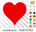 hearts suit icon with bonus...
