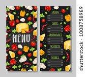restaurant cafe menu template.... | Shutterstock .eps vector #1008758989