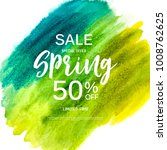abstract design spring sale... | Shutterstock .eps vector #1008762625