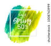 abstract design spring sale...   Shutterstock .eps vector #1008763999