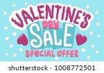 valentine's day sale discount... | Shutterstock .eps vector #1008772501
