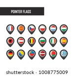 vector pointer flags | Shutterstock .eps vector #1008775009