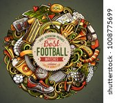cartoon vector doodles football ... | Shutterstock .eps vector #1008775699