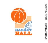 sign symbol of basketball. | Shutterstock .eps vector #1008782821