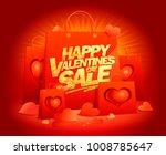 happy valentines day sale...   Shutterstock .eps vector #1008785647