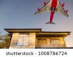 Big Passenger Plane Over Woode...