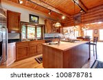 Log Cabin Large Kitchen...