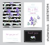 save the date card with iris... | Shutterstock .eps vector #1008789394