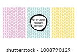 set of hand drawn knitted... | Shutterstock .eps vector #1008790129