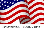 waving 3d american flag with... | Shutterstock .eps vector #1008791845