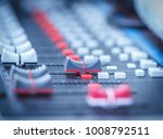 sound mixer control faders on a ... | Shutterstock . vector #1008792511