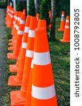 orange traffic cones in the... | Shutterstock . vector #1008792805