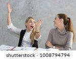 business women talking job in...   Shutterstock . vector #1008794794