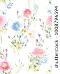 hand painted multicolor... | Shutterstock . vector #1008796594