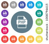 php file format flat white... | Shutterstock .eps vector #1008796615
