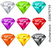 vector set of colorful shiny... | Shutterstock .eps vector #100879759