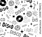 disco style   cocktail  vinyl ... | Shutterstock .eps vector #1008798421