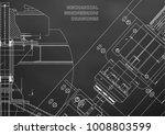 mechanical engineering drawings.... | Shutterstock .eps vector #1008803599