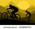 mountain bike bicycle riders in ... | Shutterstock .eps vector #100880551