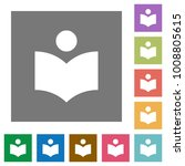 library flat icons on simple... | Shutterstock .eps vector #1008805615
