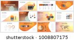 business presentation templates.... | Shutterstock .eps vector #1008807175