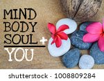 holistic health concept of zen... | Shutterstock . vector #1008809284