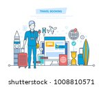 travel booking concept. hotel... | Shutterstock .eps vector #1008810571