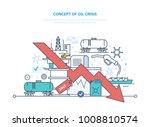 concept of oil crisis. oil... | Shutterstock .eps vector #1008810574