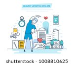doing sports  training  healthy ... | Shutterstock .eps vector #1008810625