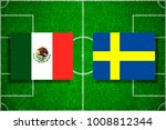 flag mexico   sweden on the... | Shutterstock . vector #1008812344