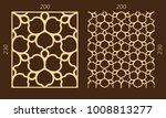 laser cutting set. woodcut... | Shutterstock .eps vector #1008813277