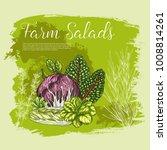 salads and lettuce vegetables... | Shutterstock .eps vector #1008814261